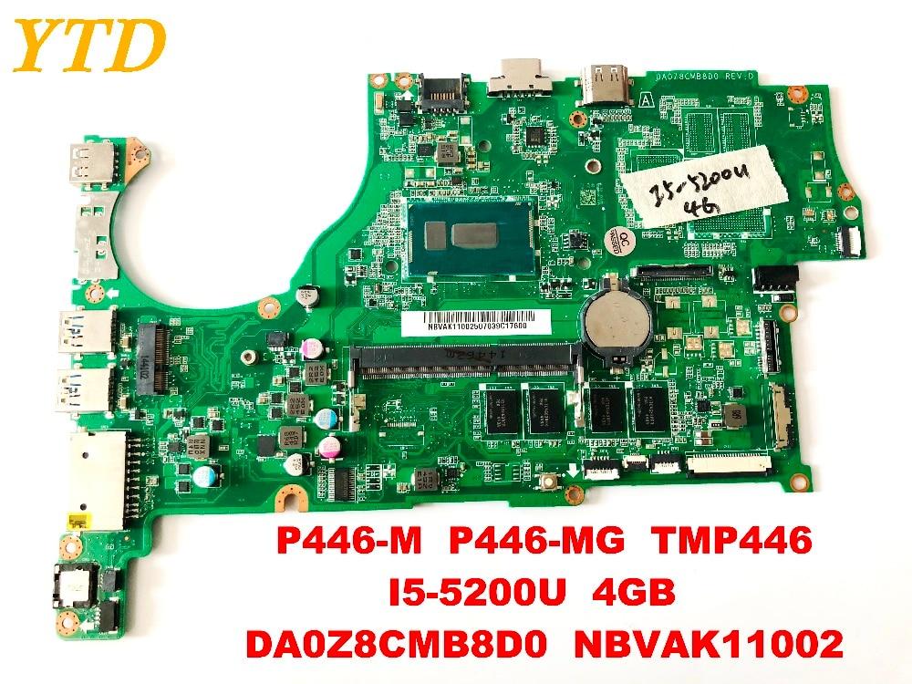 Original for font b ACER b font P446 M P446 MG TMP446 laptop motherboard I5 5200U