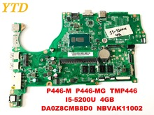 Original for ACER P446-M P446-MG TMP446 laptop motherboard I5-5200U 4GB DA0Z8CMB8D0 NBVAK11002 tested good free shipping