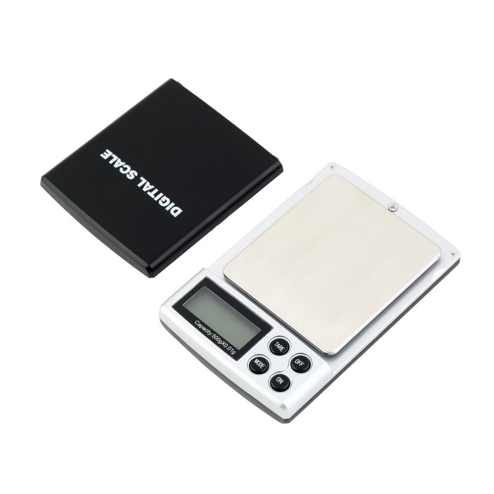 Spegnimento automatico 500g x 0.01g Mini Tascabile Digitale Scala Della Tasca Dei Monili Peso Balance Bilancia di Precisione con Brillante retroilluminazione
