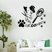 Dog wall sticker Wall vinyl art decal salon decoration dog Grooming beauty interior mural for pet ZW24