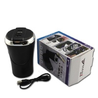 Detachable 2 In 1 Set Cigarette Lighter Car Cup Holder Cigarette Ashtray Led Light Travel Portable