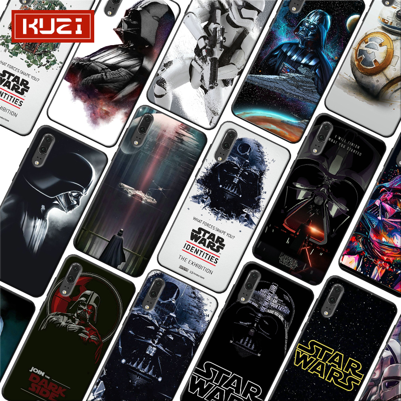 Star Wars BB8 Darth Vader Soft Silicone Phone Case for huawei honor 8x 10 20 10 lite 20 pro in Half wrapped Cases from Cellphones Telecommunications