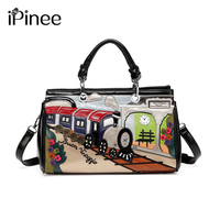 iPinee Printing Cartoon Women Shoulder Bag Italy Braccialini Handbag Retro Handmade Bolsa Feminina Famous Luxury Designer Bolsos