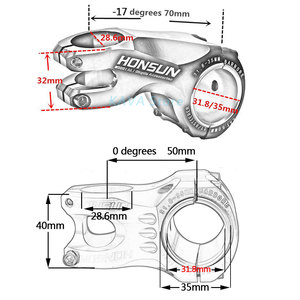Image 2 - WUZEI 50/70mm חוזק גבוה קל משקל 35mm 31.8mm גזע עבור XC AM MTB הר כביש אופני אופניים חלק