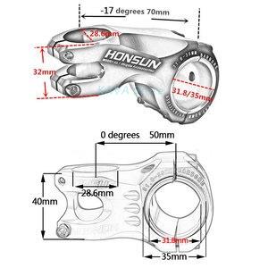 Image 2 - WUZEI 50/70mm Hohe Festigkeit Leichte 35mm 31,8mm Vorbau für XC BIN MTB Mountain Road bike Fahrrad Teil