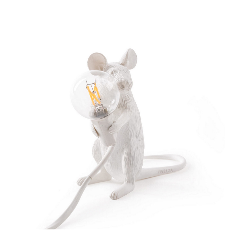 Modern Little Mouse Table Lamp Art Bedroom Bedside Desk Lamp Abajur Luminaria Night Light Fixtures Resin Table Lighting Led Table Lamps