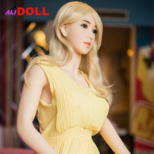 158cm Blonde Beauty Real Silicone Sex Dolls Big Boobs Real Dolls Sex Toys Rubber Woman Metal Skeleton Sex Dolls Oral Anal Vagina(China)