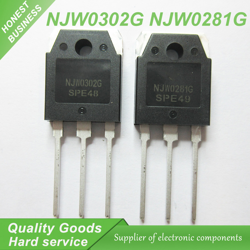 10PCS Free Shipping 10pcs=5pair ( 5pcs NJW0281G + 5pcs NJW0302G )  NJW0281 NJW0302 High  Transistor 100% New Original