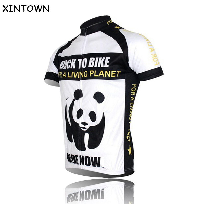 New Panda ciclismo ropa Cycling Jersey Bike Short Sleeve Top Shirt Clothing Bicycle Sportwear Team Racing Biking Jersey S-4XL