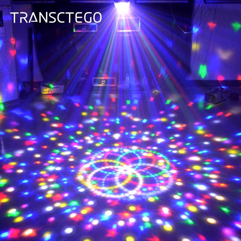 9 Color Led Disco Light Magic Ball Lamp DMX 512 Laser Lumiere RGB Party Light For Kids DJ Sound Activated Disco Lamp Party Light