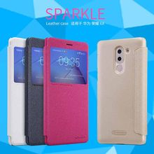"Funda de cuero para huawei honor 6x funda NILLKIN Sparkle PU Funda de cuero smart wake up función para huawei mate 9 lite 5,5""(China)"