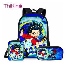 ThiKin 3Pcs Beyblade Burst 2019 School Bags Set for Kids Boys Backpacks Shoulder Bagpack Children Bookbag Satchel
