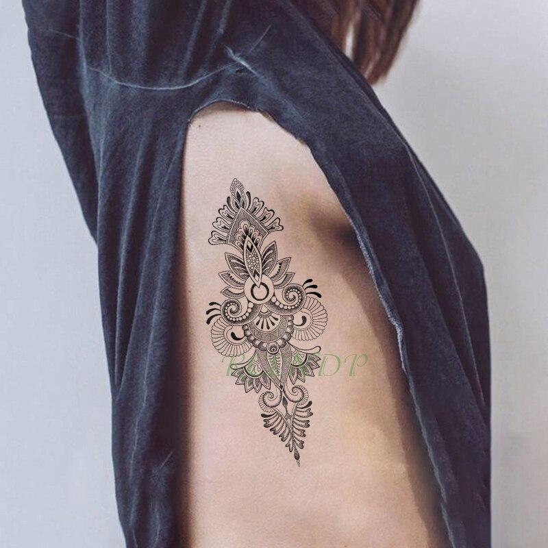 Tatuaje temporal a prueba de agua pegatina Mandala floral tatuaje flash tatuaje falso tatuaje kit completo para chica mujeres hombres