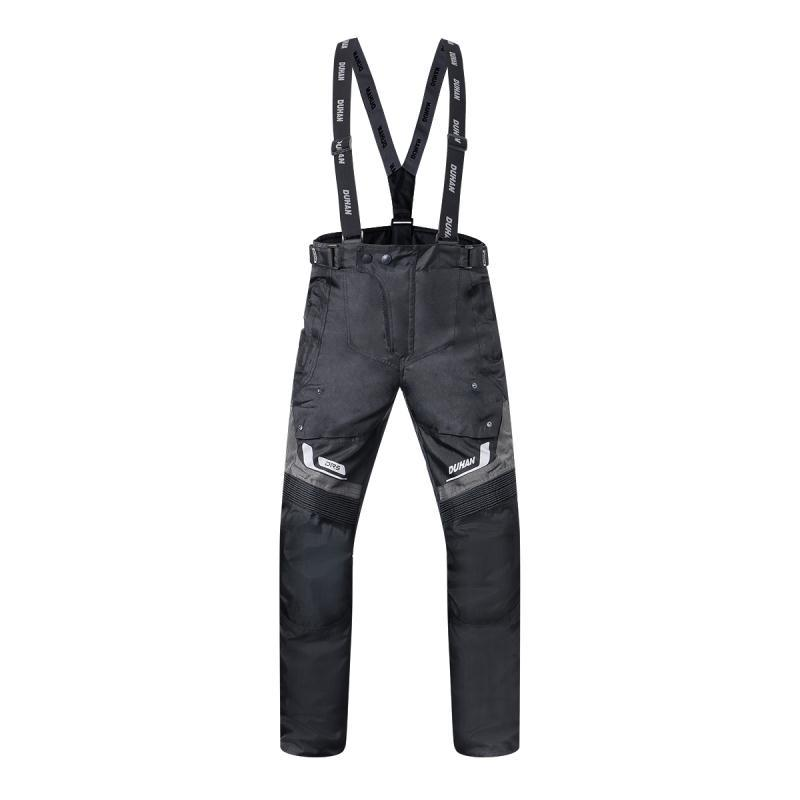 DUHAN Motorcycle Pants Men Waterproof Suspender Trousers Moto Motocross Braces Riding Off-Road Racing Trousers w braces blue scoyco p043 protective jeans protector rider pants with ce knee moto motorcycle racing leisure oxford fabric trousers
