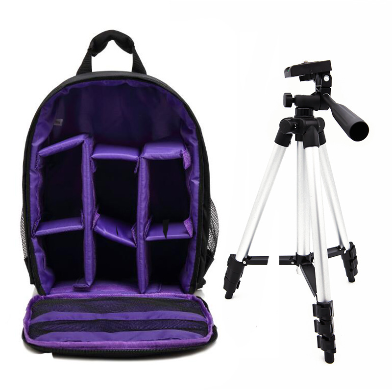 US $13 99 |Digital DSLR Camera Backpack Video Bag Case Waterproof  Shockproof for Canon Nikon Photographer Photo Camera Tripod Stand-in  Camera/Video