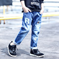 2017 Brand New Children's Casual Jeans Boys Kids Fashion Patch Denim Jeans Children Spring Autumn Long Pants