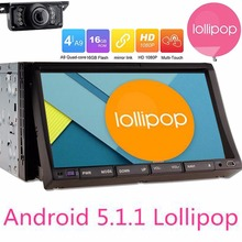 7″ Double 2 Din Android 5.1.1 Lollipop in dash Car Radio DVD GPS Navigator Head Unit Car PC with 2 din gps navigator+free camera