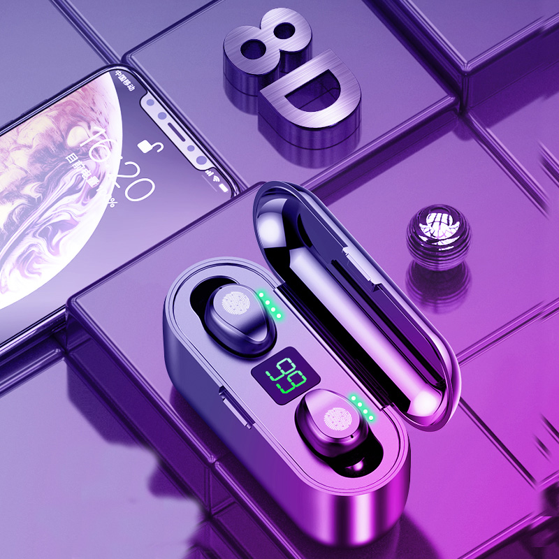 F9 tws mini bluetooth/wireless earphones/earpiece 6D stereo Bluetooth headsets/headphones waterproof earbuds with microphone