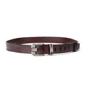Image 3 - BISON DENIM Men Belts Cow Leather Jeans Waistband Genuine Leather Male Belt Soft Alloy Pin Buckle Mens Belt N71350 2C