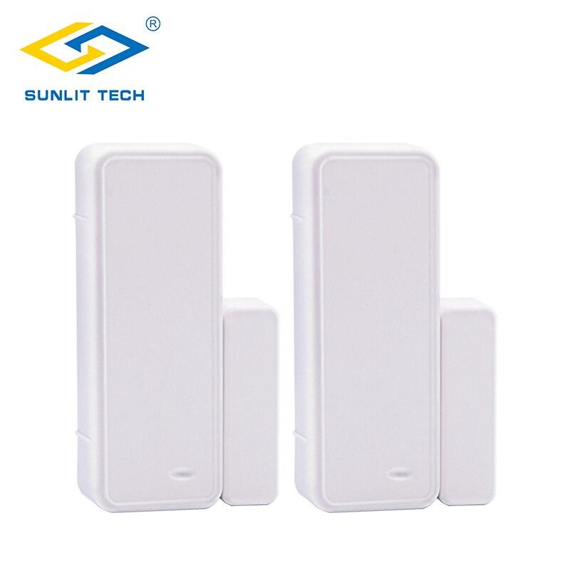 2pcs 433MHz Alarm Sensors Wireless Door Window Magnet Sensor For Home Burglar Security Wifi Door Open entry Detector G90B Plus стоимость
