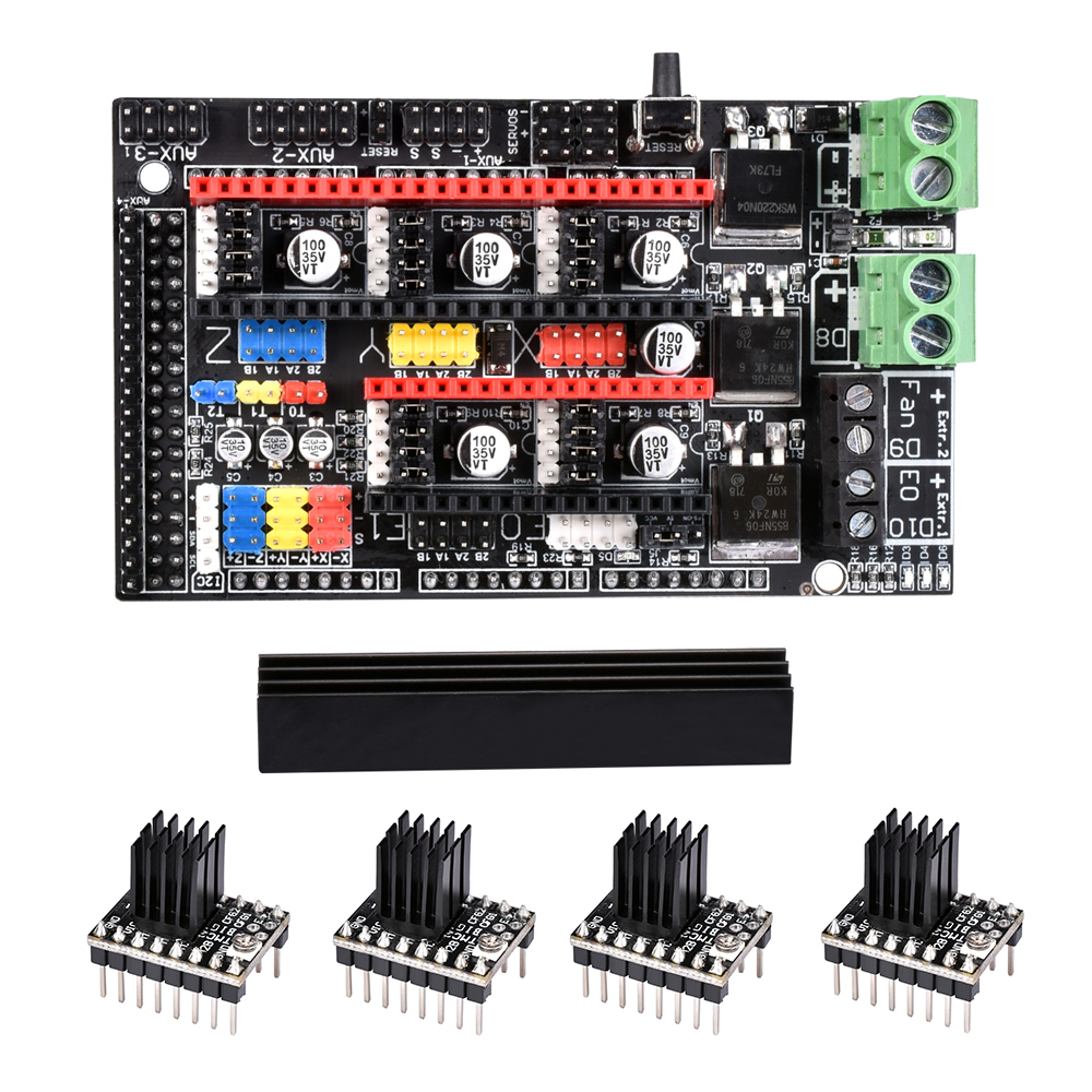 Ramps 1.6 Plus Board upgrade base on Ramps 1.6 1.5 1.4 Control Board 4 layers PCB TMC2130 Drv8825 A4988 Driver for 3D Printer Ramps 1.6 Plus Board upgrade base on Ramps 1.6 1.5 1.4 Control Board 4 layers PCB TMC2130 Drv8825 A4988 Driver for 3D Printer