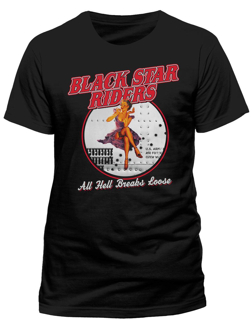 Black Star Riders Todo infierno se rompe Holgado  T-SHIRT - Nuevo y Oficial