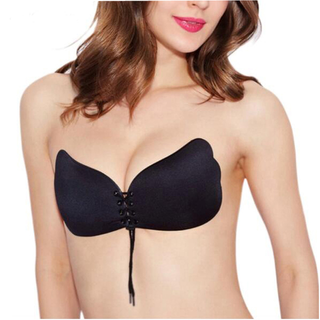 3ff13aa6b38d9 Seamless Invisible Bra Adhesive Silicone Backless Bralette Strapless Push  Up Bra Sexy Lingerie Fly Bra Women Plus Size