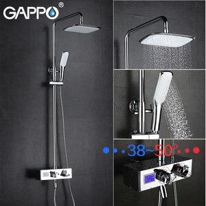 Image 4 - GAPPO grifos de ducha para bañera mezclador de baño de Grifo de ducha de baño termostático montado en la pared, conjunto de ducha de lluvia
