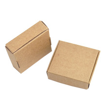 50 Pieces 5.5x5.5x1.5cm Vintage Brown Soft Cardboard Package Gift Box Square Wedding Party Card Tag Kraft Paper