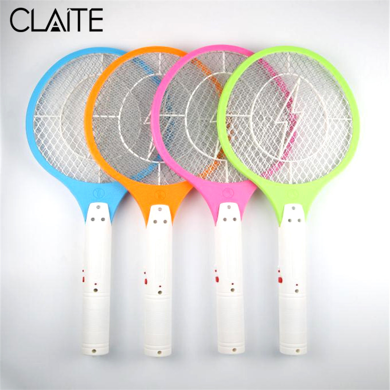 CLAITE Rechargeable Electric Mosquito Swatter Fly Bug Zapper Racket Insects Bug Wasp Zapper Fly Mosquito Killer