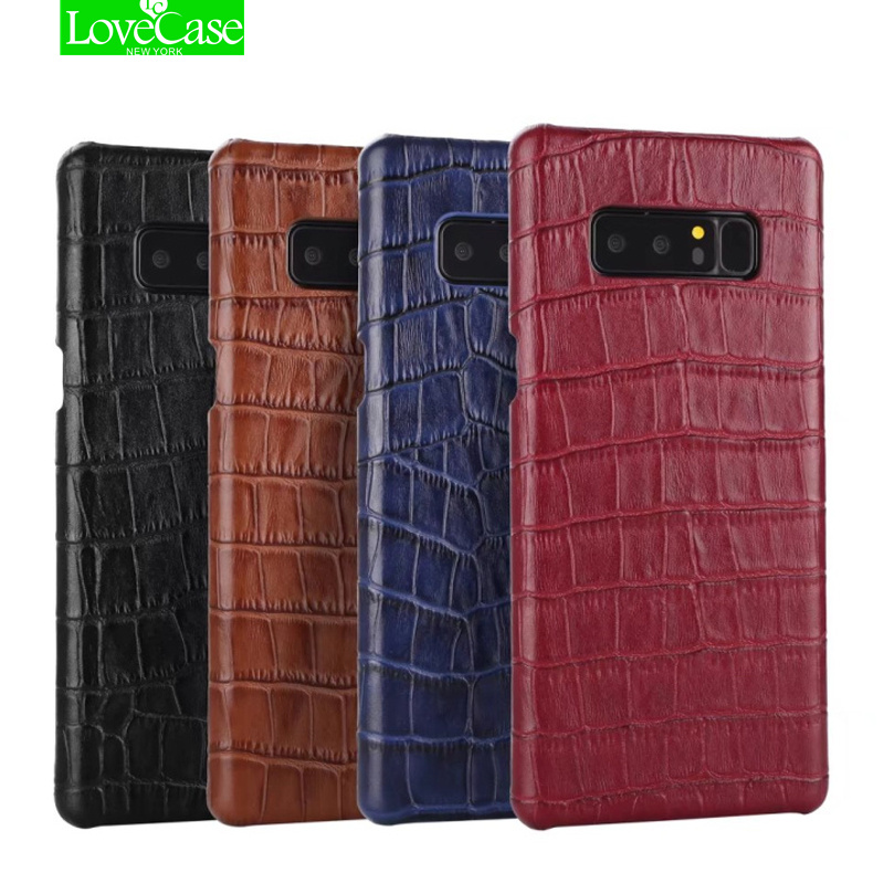 LoveCase Genuine Leather Note8 Case For Samsung Note 8 Cover Alligator Phone Back Cover Case For Samsung Galaxy Note8 Fundas