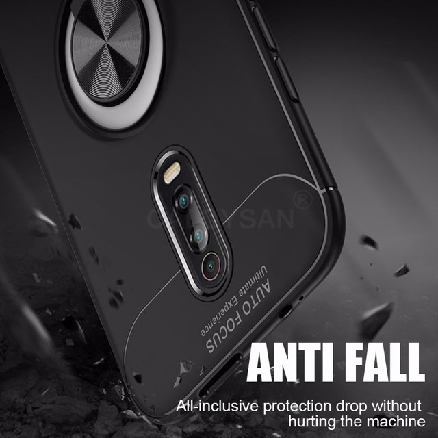 Soft Bumper Ring Case On The For Xiaomi Redmi 7 K20 Pro Note 5 6 7 Pro Shockproof Case For Xiaomi Pocophone F1 Phone Case