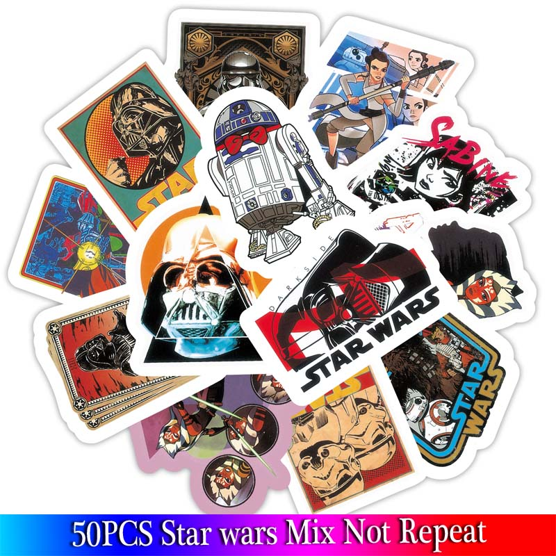 50pcs/pack New Super Cool Star Wars Stickers for Luggage Laptop Decal Skateboard Stickers Moto Bicycle Car Guitar Fridge Sticker50pcs/pack New Super Cool Star Wars Stickers for Luggage Laptop Decal Skateboard Stickers Moto Bicycle Car Guitar Fridge Sticker