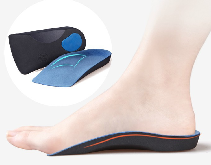 Half arch support orthopedic insoles for flat foot correct 3/4 length orthotic insole feet care health orthotics insert shoes 2016 dental orthodontics typodont teeth model half metal half ceramic brace typodont with arch wire