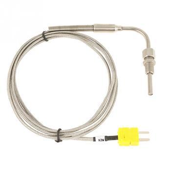 """Termopar EGT tipo K de 1/8 """"NPT para sonda de temperatura de gases de escape con punta expuesta y conector de 2 m/78,74 pulgadas de longitud"""