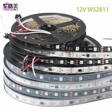 DC12V 5M WS2811 LED pixel strip light Rgb Full color 5050