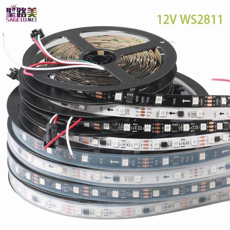 DC 12V WS2811 IC RGB 5050 Dream Color 150LED Addressable LED Strip Light Tape