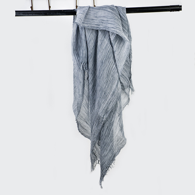 Oversized Vintage Navy   Scarf     Wrap   Tie Dye Cotton   Scarves   Shawl Ladies Spring   Scarves   Extra Long Bandana   Scarf   For Women