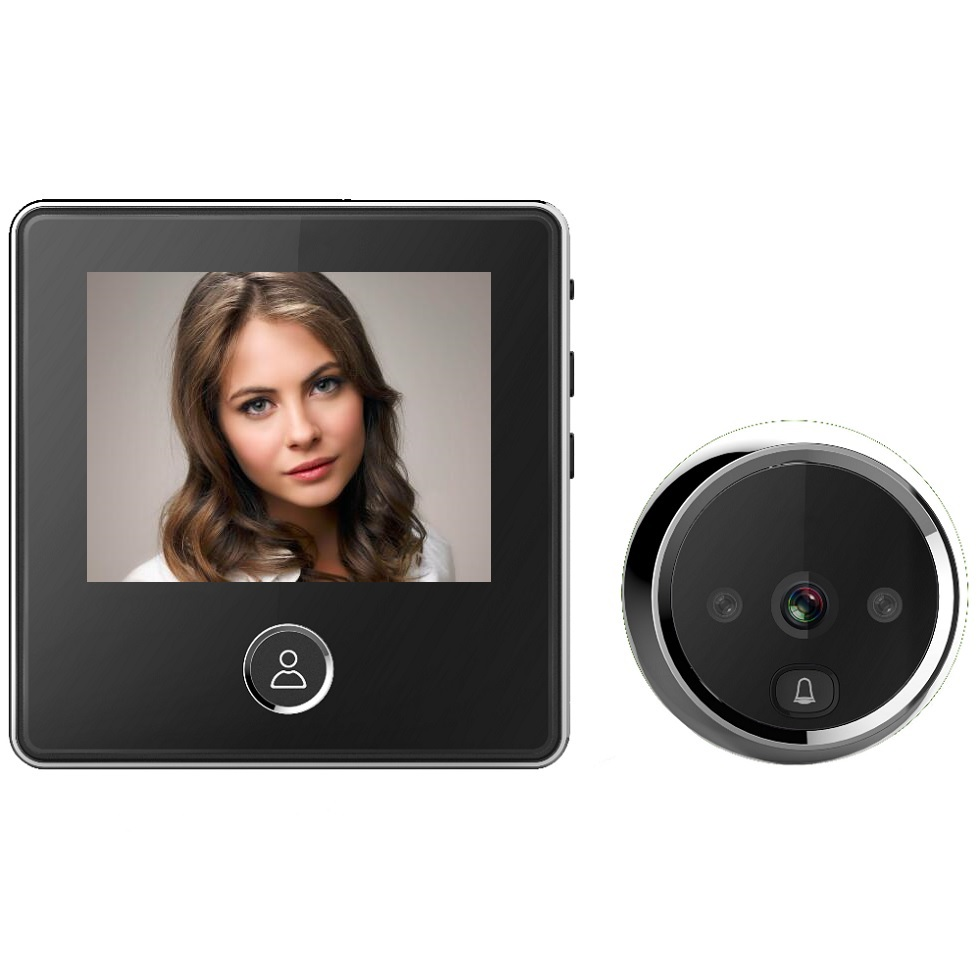 Electronic Doorbell Video Call Wireless Peephole 3.0 Inch LCD 1.0 M Pixels Door Bell IR Night Vision Photos Taking Battery Power