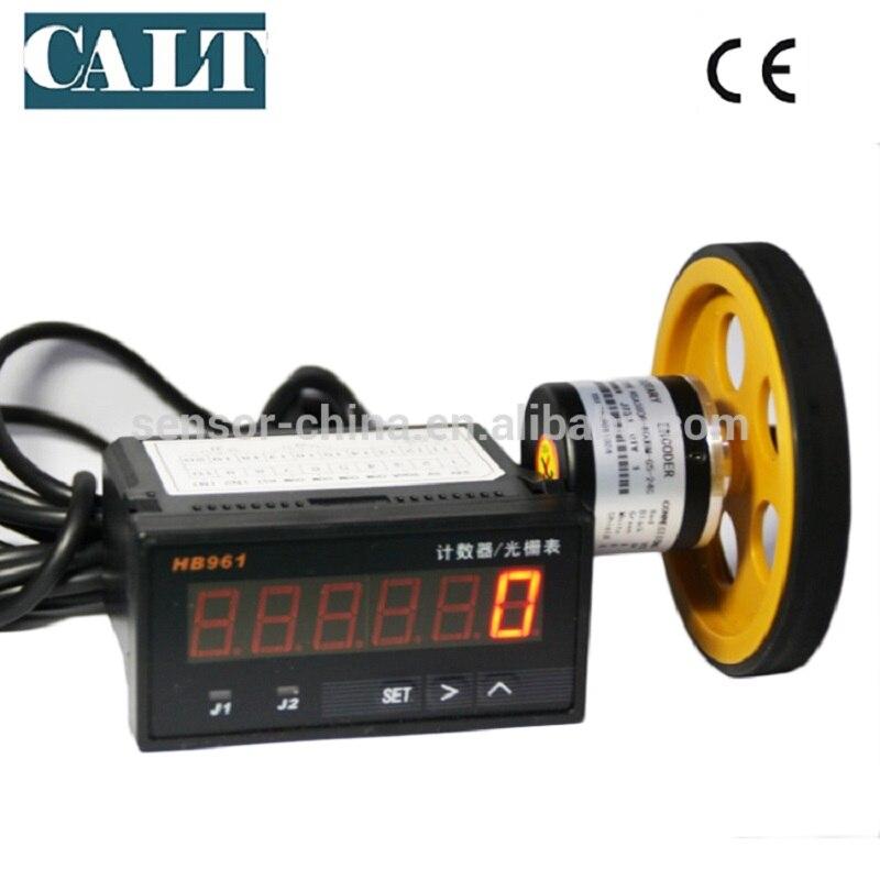 CALT 38mm NPN sortie roue incrémentale encodeur rotatif périmètre de roue 200mm GHW38 avec affichage numérique HB961 pas cher chine encodeur
