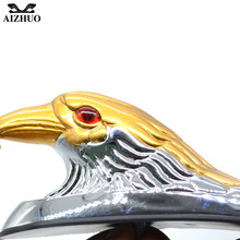 Motorcycle Accessories Chrome Eagle Head Ornament Statue For Motorbike ATV Front Fender frames&fitting Car Bonnet Light