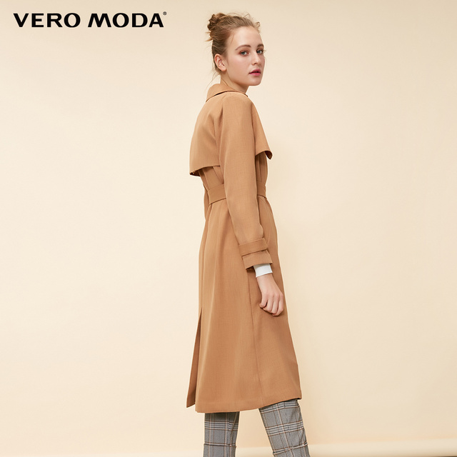 Vero Moda Women's Lace-up Concealed Buttons Lapel Trench Coat | 318321537