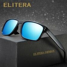 ELITERA Men Square Sunglasses Polarized Coating Mirror Sun G