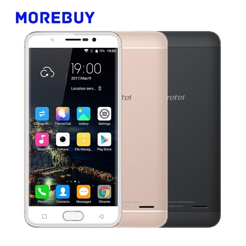 Gretel A9 Fingerprint Mobile Phones MT6737 Quad Core 1.25GHz 16G ROM 2G RAM Android 6.0 Smartphone 8.0MP 5.0 Inch 4G Cellphone