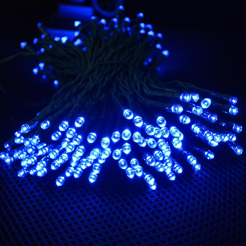 Blue String Lights Solar String Lights Outdoor for Gardens Patio Lawn Gate Yard String Lights Party with 200 LED Waterproof  (4)