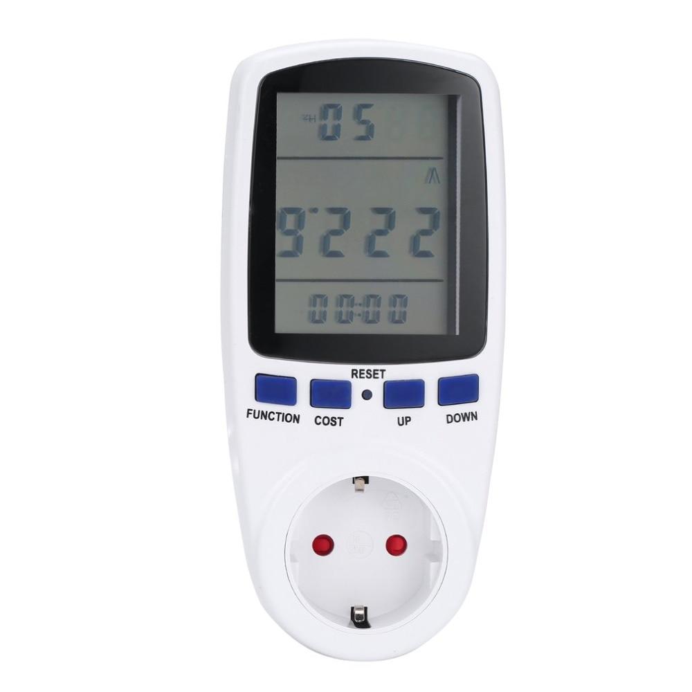 domotica pertraukiklis pertraukiklis ES kištuko monitorius analizatorius galios energijos matuoklis vatinis įtampa srovės dažnis galia LCD