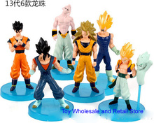 6pcs/set Dragonball Z Dragon Ball Goku Vegeta Piccolo Gohan super saiyan Action Figure Toy