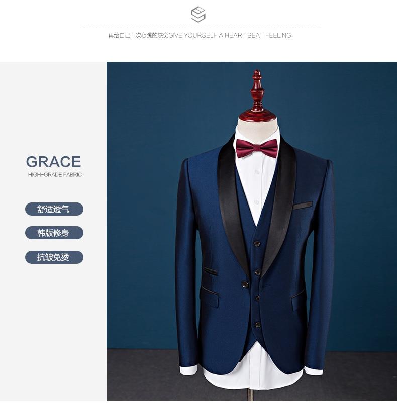 casamento dos homens 3 peças conjunto de alta qualidade vestido terno