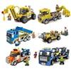 Single Sale City Construction Team Excavator Truck Loader Trailer Building Bricks Block Model Set Educational Toys