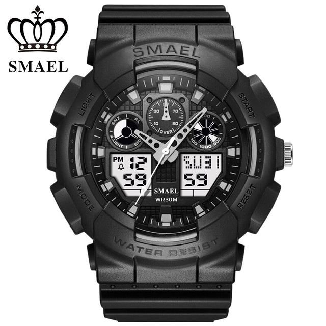 SMAEL nueva marca de lujo estilo G reloj Digital para Hombre Relojes  deportivos militares hombres reloj 02531513871d